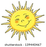 happy sun   summer   cartoon... | Shutterstock .eps vector #139440467