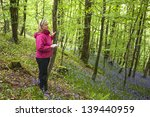 Attractive Woman In Woods Scan...