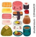 sushi collection   vector file... | Shutterstock .eps vector #139446929