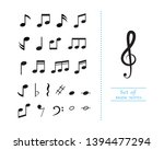 music note icon vector... | Shutterstock .eps vector #1394477294