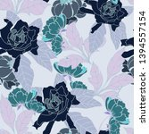 beautiful seamless floral... | Shutterstock . vector #1394557154