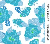 beautiful seamless floral... | Shutterstock . vector #1394557187