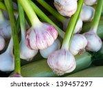 Close Up Of Garlic On Market...