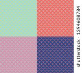 set of fish scales seamless...   Shutterstock .eps vector #1394608784