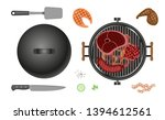 vector set. barbecue tools and...   Shutterstock .eps vector #1394612561