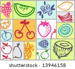 fruits | Shutterstock .eps vector #13946158