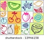 fruits | Shutterstock .eps vector #13946158