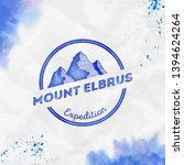 elbrus logo. round expedition... | Shutterstock .eps vector #1394624264