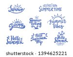 summer season themed hand...   Shutterstock .eps vector #1394625221