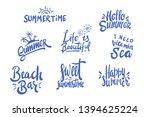 summer season themed hand...   Shutterstock .eps vector #1394625224