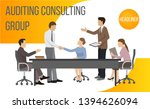 auditing consult group banner... | Shutterstock .eps vector #1394626094
