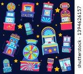 casino seamless pattern vector... | Shutterstock .eps vector #1394626157
