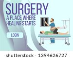 surgery banner. place where... | Shutterstock .eps vector #1394626727