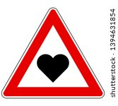 heart and attention sign on... | Shutterstock .eps vector #1394631854