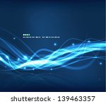 abstract glowing lines | Shutterstock .eps vector #139463357