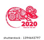 rat is a symbol of the 2020...   Shutterstock .eps vector #1394643797
