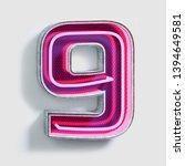 vivid fluorescent neon font.... | Shutterstock . vector #1394649581
