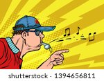 coach or referee whistles. pop...   Shutterstock .eps vector #1394656811