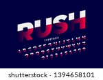 speed style font  alphabet and... | Shutterstock .eps vector #1394658101
