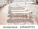 abandoned sandy beach. empty... | Shutterstock . vector #1394659751