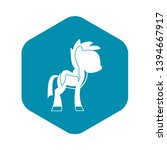 little pony icon. simple... | Shutterstock .eps vector #1394667917