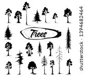 tree icon set. hand drawn... | Shutterstock .eps vector #1394682464