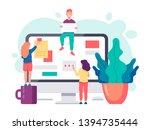 business concept. team... | Shutterstock .eps vector #1394735444