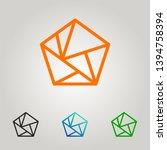 polygonal logo. united... | Shutterstock .eps vector #1394758394