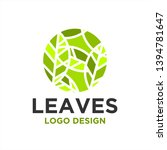 leaves logo design inspiration .... | Shutterstock .eps vector #1394781647