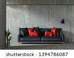 interior living room wall...   Shutterstock . vector #1394786087