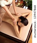 woman in a day spa getting a... | Shutterstock . vector #13947868