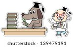 the dog to study | Shutterstock . vector #139479191