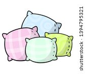 set of pillows. soft colored... | Shutterstock .eps vector #1394795321