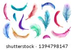 vector color feathers... | Shutterstock .eps vector #1394798147