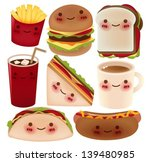 fast food collection   vector... | Shutterstock .eps vector #139480985