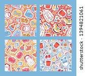 baby stickers vector seamless... | Shutterstock .eps vector #1394821061