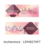 wedding day party for just... | Shutterstock .eps vector #1394827097