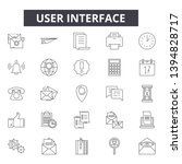 user interface line icon signs. ...