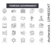 foreign government line icon... | Shutterstock .eps vector #1394833247
