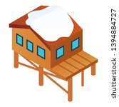 ski resort house icon.... | Shutterstock .eps vector #1394884727