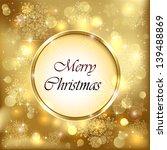 golden christmas background... | Shutterstock .eps vector #139488869