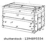 rectangular trunk trimming is... | Shutterstock .eps vector #1394895554