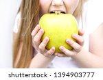 Big Yellow Green Apple In...