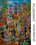 Painting On Canvas. Jewish...