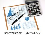 business report. cup of coffee... | Shutterstock . vector #139493729