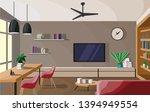 designer interior of a spacious ... | Shutterstock .eps vector #1394949554