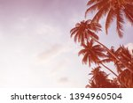 palm trees on an island in... | Shutterstock . vector #1394960504