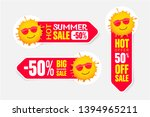 set of summer pricetags with...