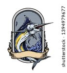 vector of marlin fish with... | Shutterstock .eps vector #1394979677
