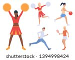 set of sporty people. group of... | Shutterstock .eps vector #1394998424